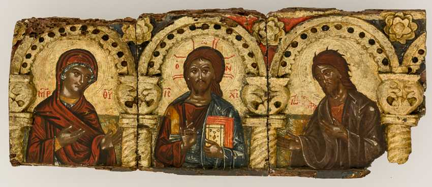 Very rare and monumental icons of the apostles series with the Deesis - photo 2