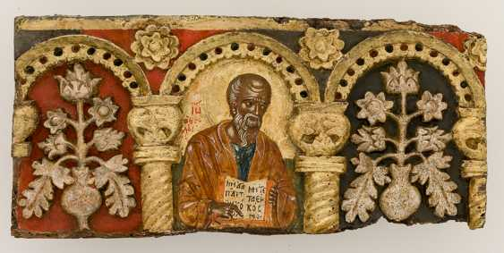 Very rare and monumental icons of the apostles series with the Deesis - photo 3
