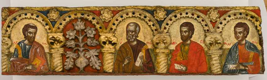 Very rare and monumental icons of the apostles series with the Deesis - photo 4