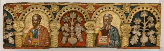 Very rare and monumental icons of the apostles series with the Deesis - photo 5