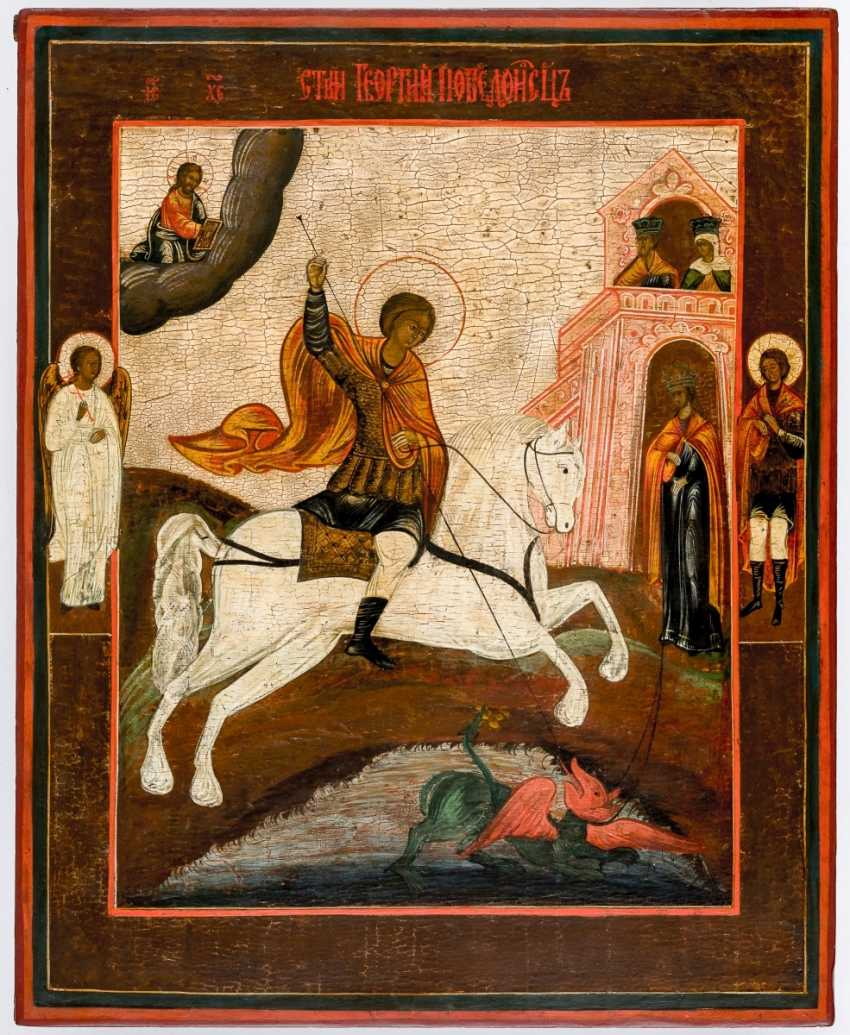 Very large icon of St. George - photo 1