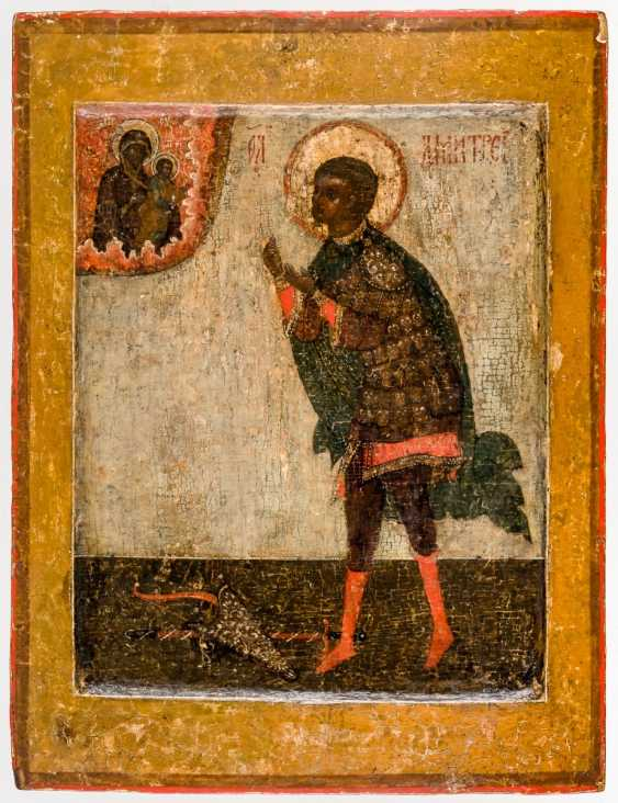 Special icon of St. Demetrios of Thessaloniki - photo 1