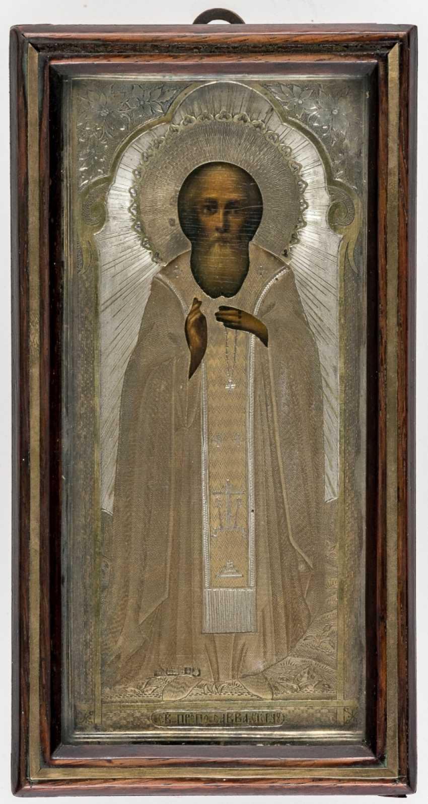 Small icon of St. Sergius of Radonezh in the icon case - photo 1