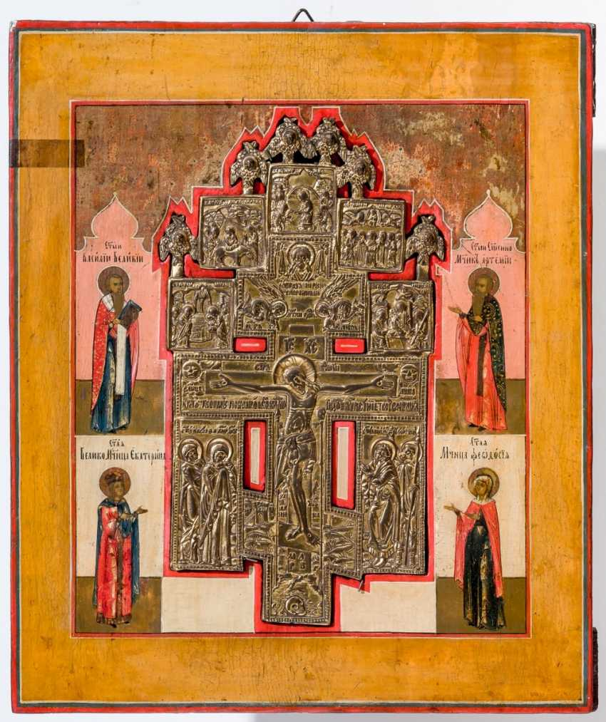 Staurothek-икона со святыми - фото 1