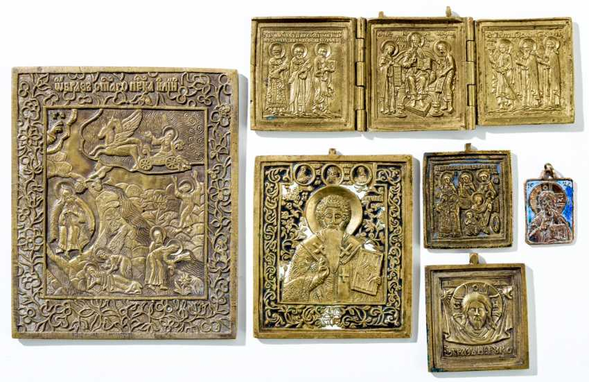Collection of six Bronze icons - photo 1