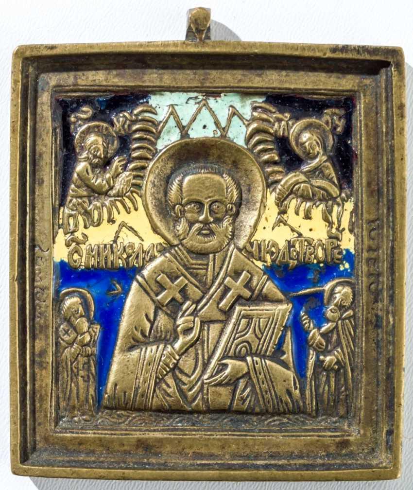 Bronze icon of St. Nicholas - photo 1
