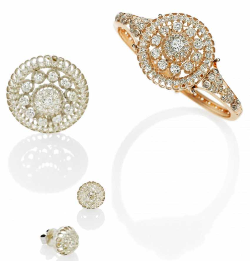 Diamond Set: Bracelet, Brooch, Earrings - photo 1