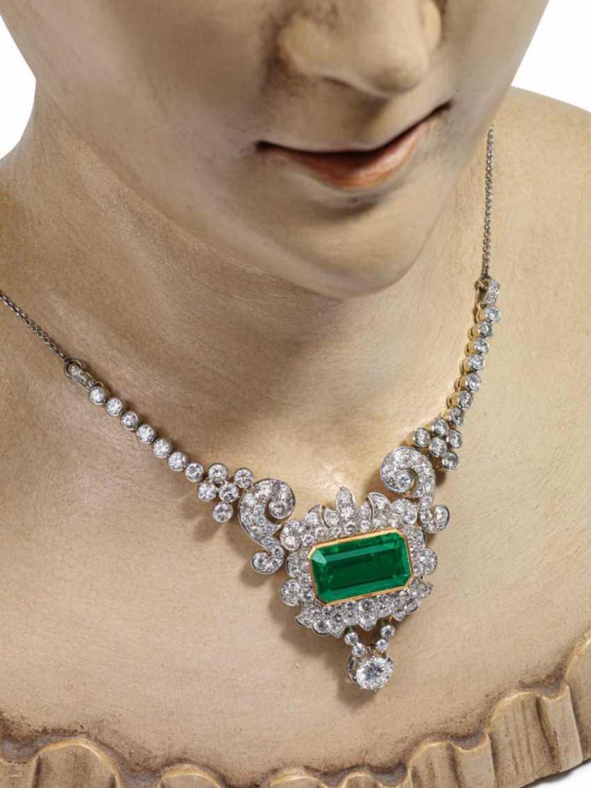 Emerald And Diamond Pendant Chain - photo 2
