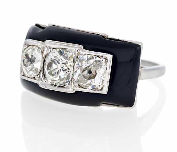 Diamant-Onyx-Ring - photo 1