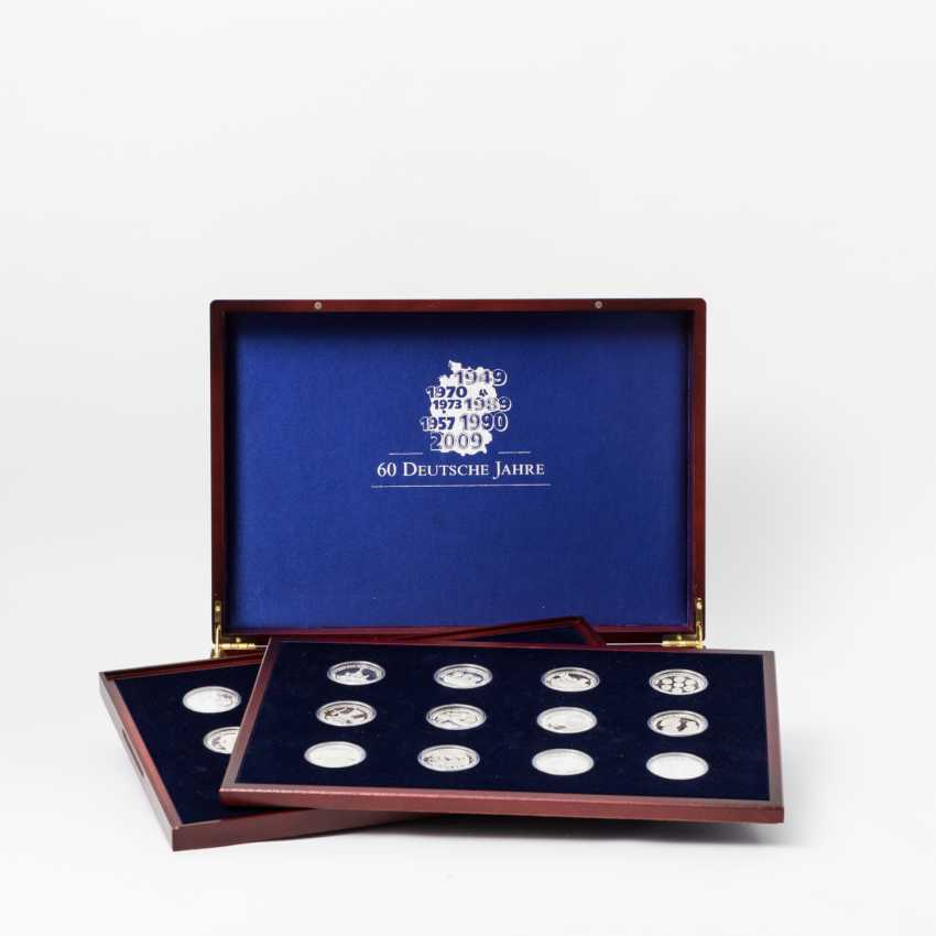 Silver medals and coins, - photo 1