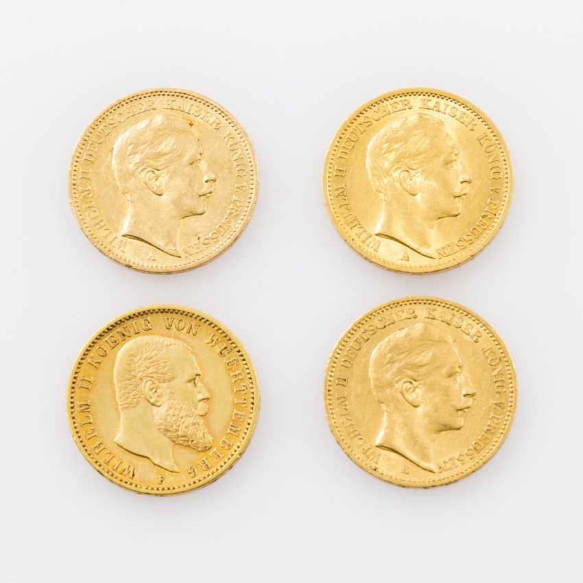 Beautiful 4-piece collection Dt. Empire/Gold - consisting of - photo 1