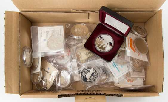 World coins - a box with about 40 coins, - photo 1