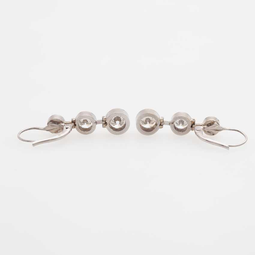 Drop earrings (Pair) with 6 brilliant-cut diamonds - photo 3