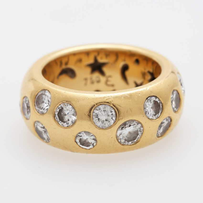 Ladies ring is completely paved with Diam.- Brilliant - photo 1