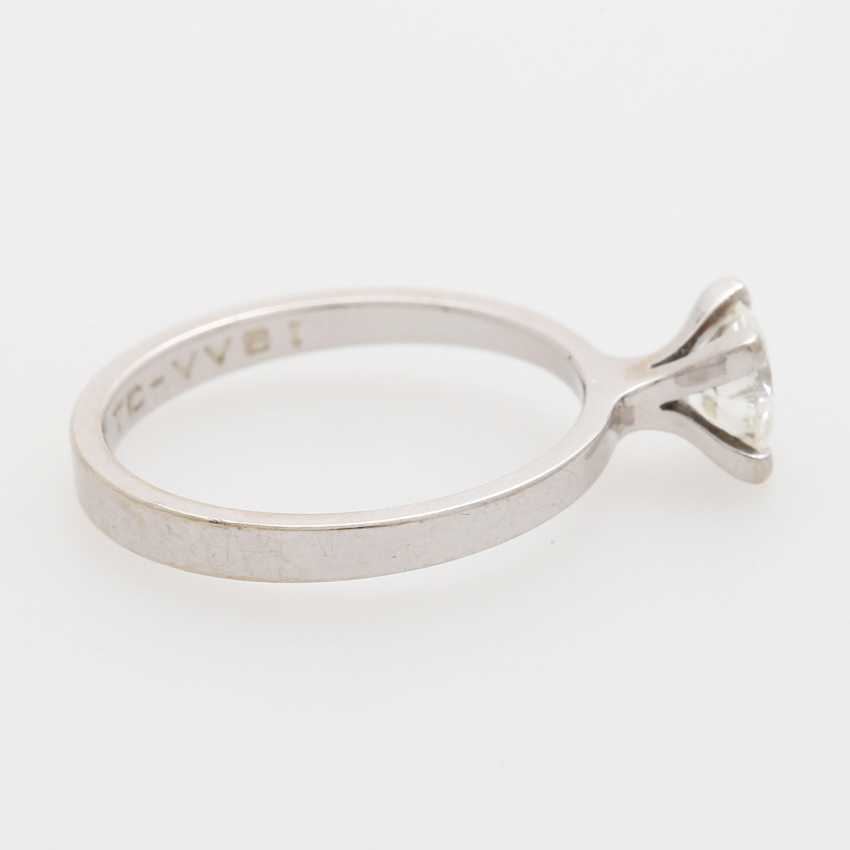 Solitaire ring with 1 brilliant; - photo 3