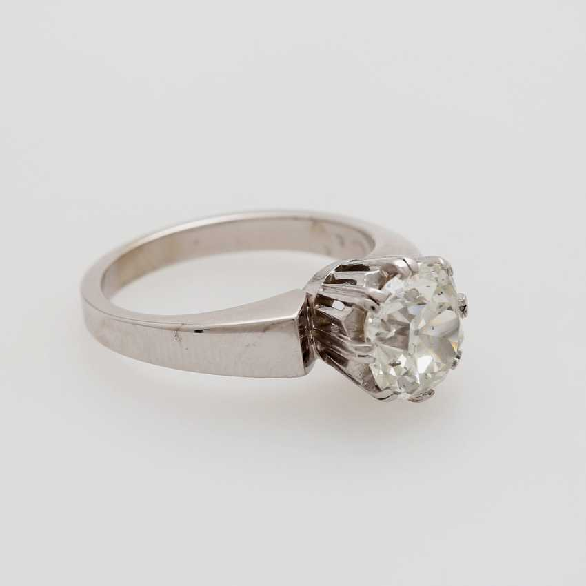 Solitaire ring with old European cut diamond - photo 2