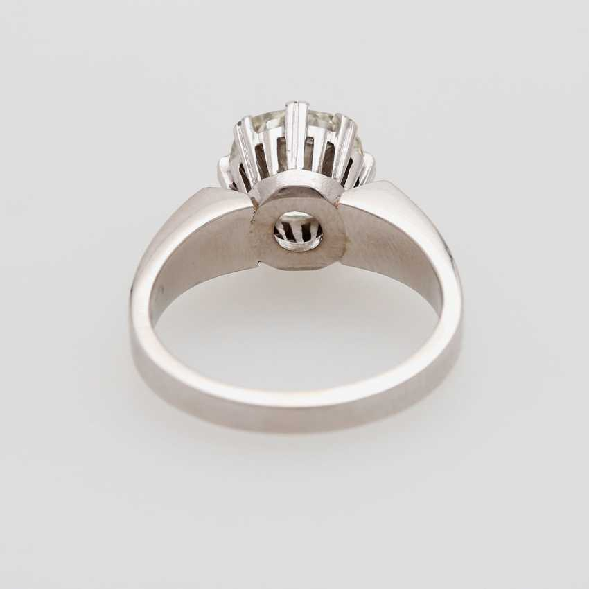 Solitaire ring with old European cut diamond - photo 3