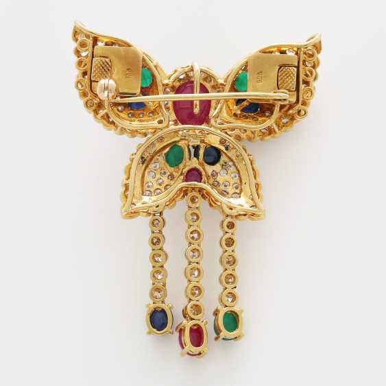Brooch/ pendant set with Diam.- Brilliant - photo 3