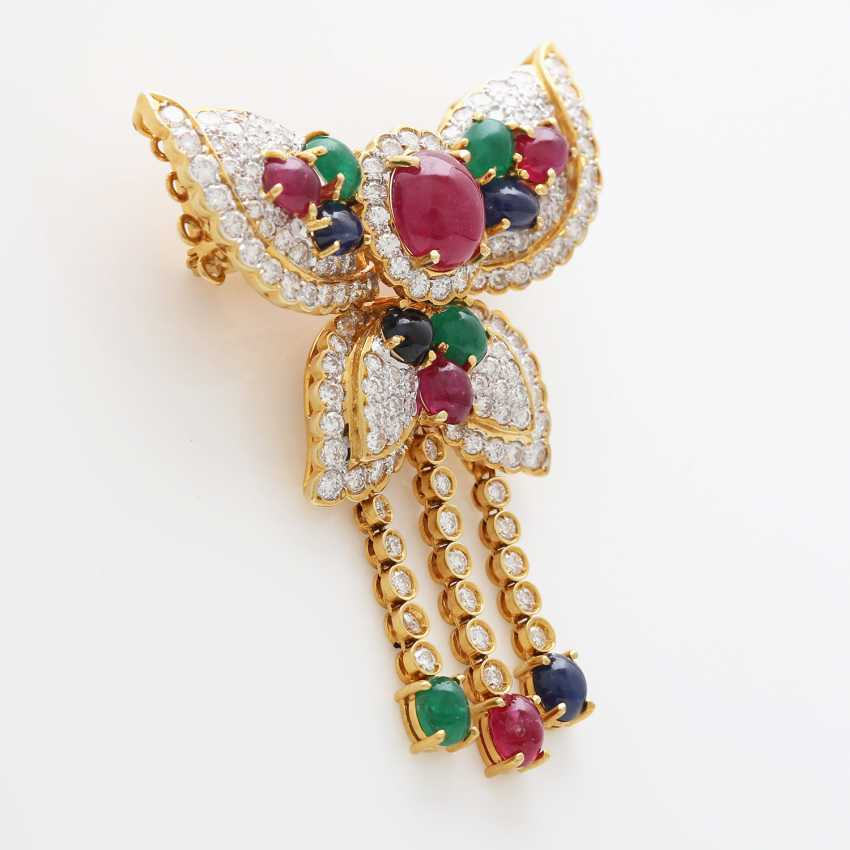 Brooch/ pendant set with Diam.- Brilliant - photo 2