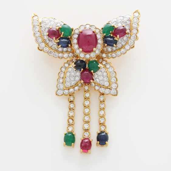 Brooch/ pendant set with Diam.- Brilliant - photo 1