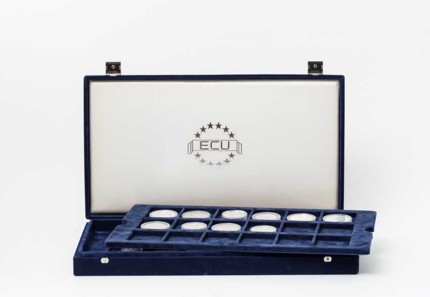 ECU - collection in Box with 28 coins, - photo 1