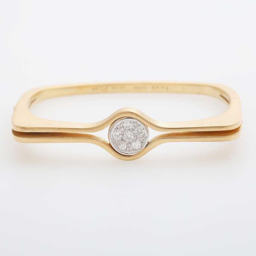"GÜNTER KRAUSS, ""Art Design"" bangle bracelet with diamonds - photo 1"