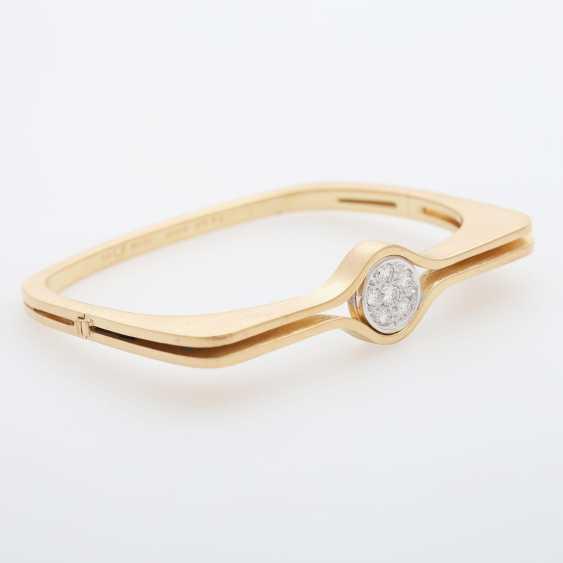 "GÜNTER KRAUSS, ""Art Design"" bangle bracelet with diamonds - photo 2"