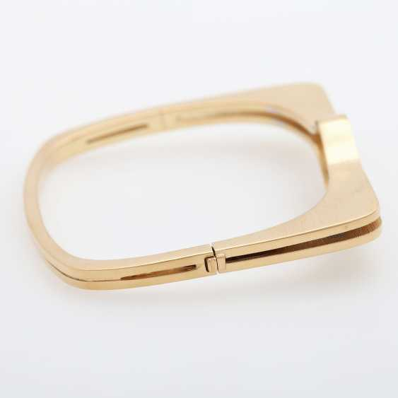 "GÜNTER KRAUSS, ""Art Design"" bangle bracelet with diamonds - photo 3"