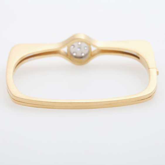 "GÜNTER KRAUSS, ""Art Design"" bangle bracelet with diamonds - photo 4"