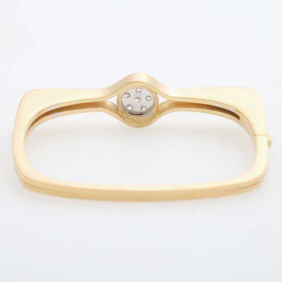 "GÜNTER KRAUSS, ""Art Design"" bangle bracelet with diamonds - photo 5"