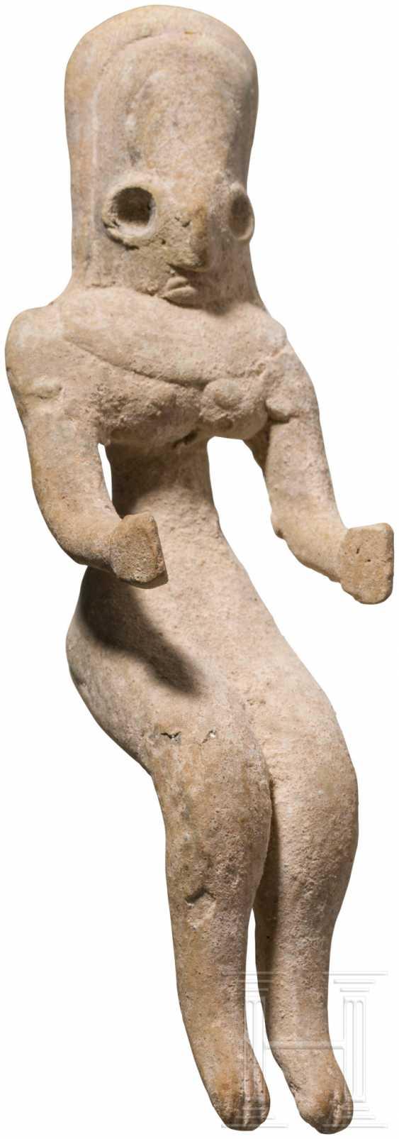 Женский Терракотовый Idol, Indus Valley Civilization, Пакистан-Северо-Западная Индия, 3. Тысячелетии до н. э. - фото 1