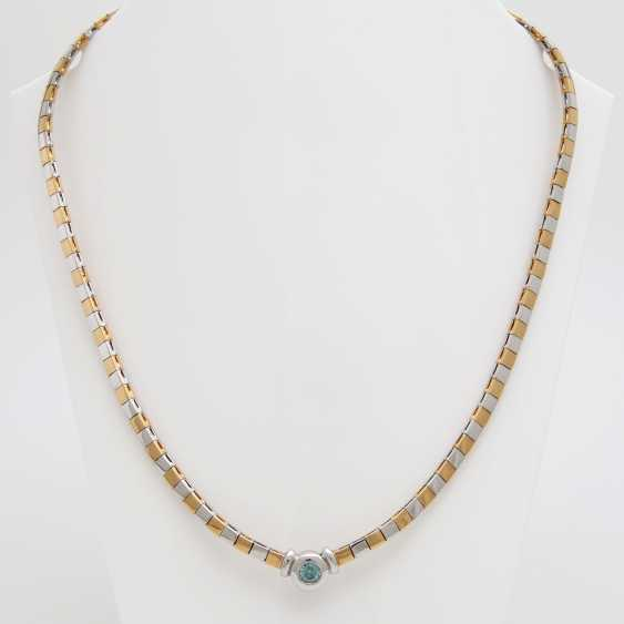 Necklace with 1Brillant turquoise blue (color changed); - photo 1