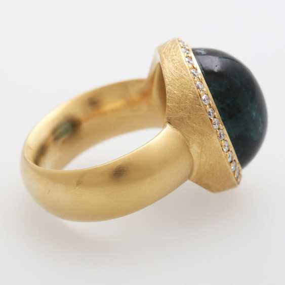 Ladies ring, m. occupied by a blue-green tourmaline, - photo 3