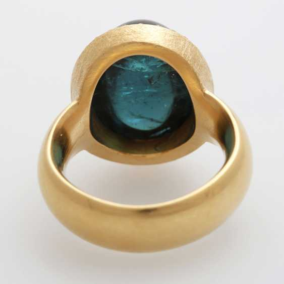 Ladies ring, m. occupied by a blue-green tourmaline, - photo 4