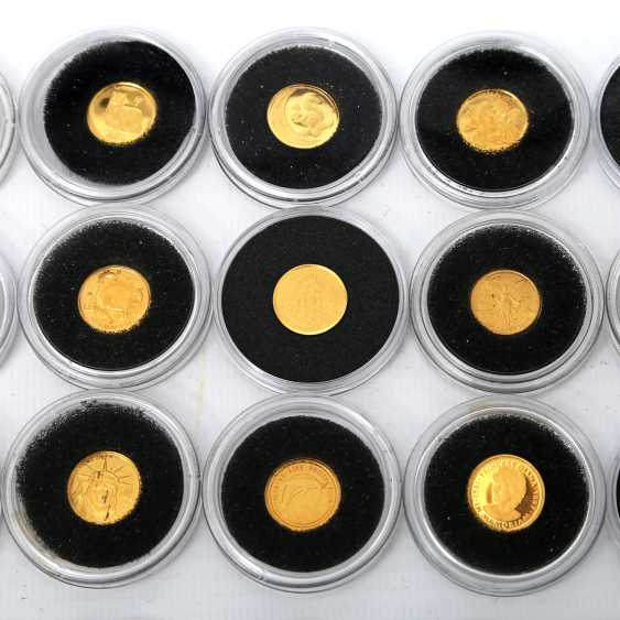 GOLD, The smallest gold coins of the world, 24 pieces, - photo 2