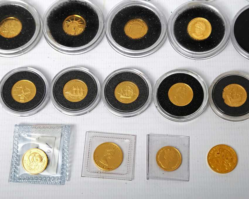 GOLD, The smallest gold coins of the world, 24 pieces, - photo 3