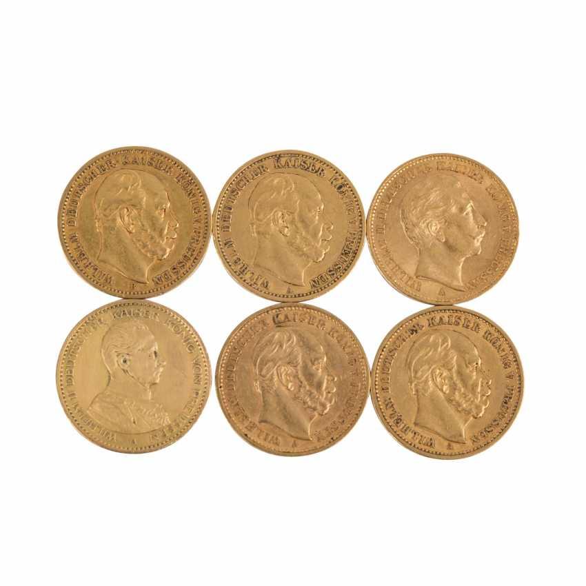 Preussen/GOLD - 6 x 20 Mark such as: - photo 1