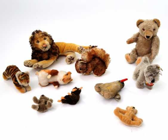 Usually the lot of ten plush animals, 2 STEIFF.H. 20. Century, - photo 1
