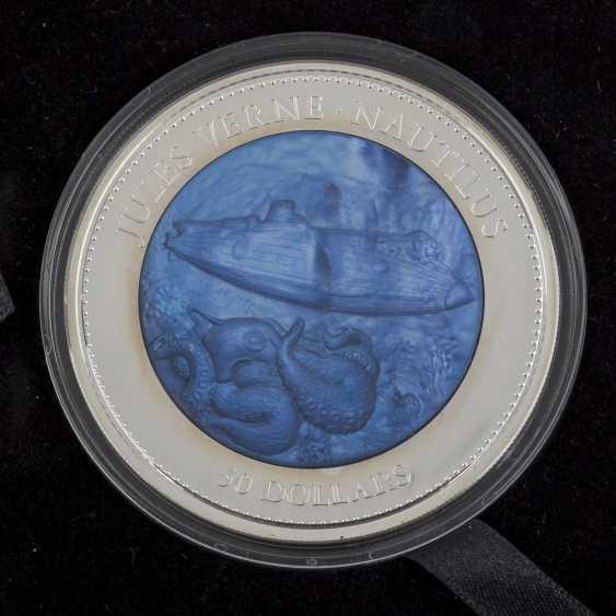 "Îles Cook/SILBER - 50 Dollars En 2014, ""de Jules Verne - Nautilus"", PP, - photo 1"