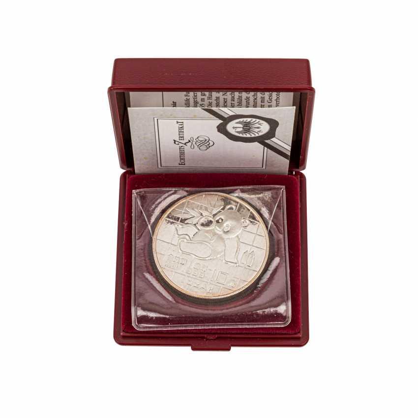 China - 10 Yuan 1989, 1 Unze Silber fein, - Foto 1