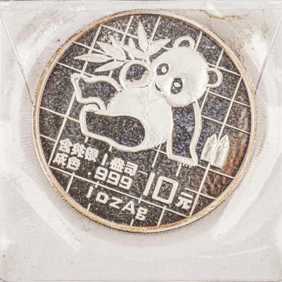 China - 10 Yuan 1989, 1 Unze Silber fein, - Foto 2