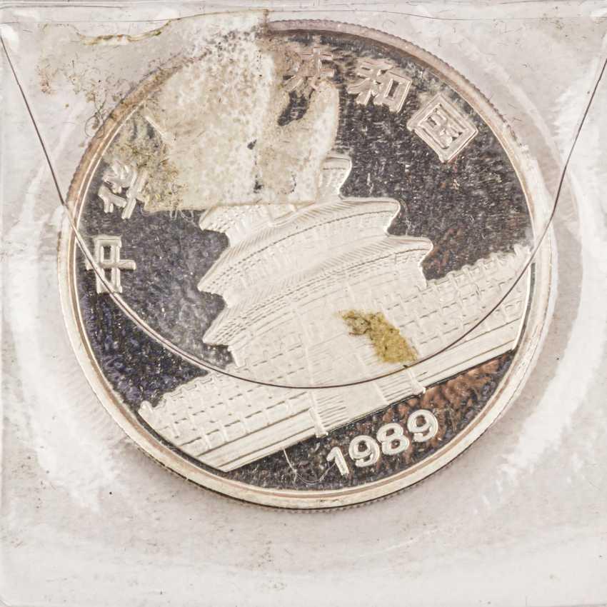 China - 10 Yuan 1989, 1 Unze Silber fein, - Foto 3
