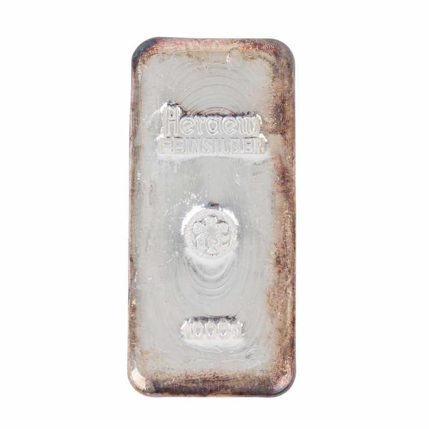 1 kg SILBERBARREN, - Foto 1