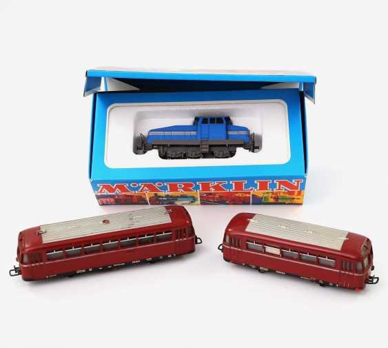 MÄRKLIN diesel locomotive and railcar with trailer, scale H0, - photo 1