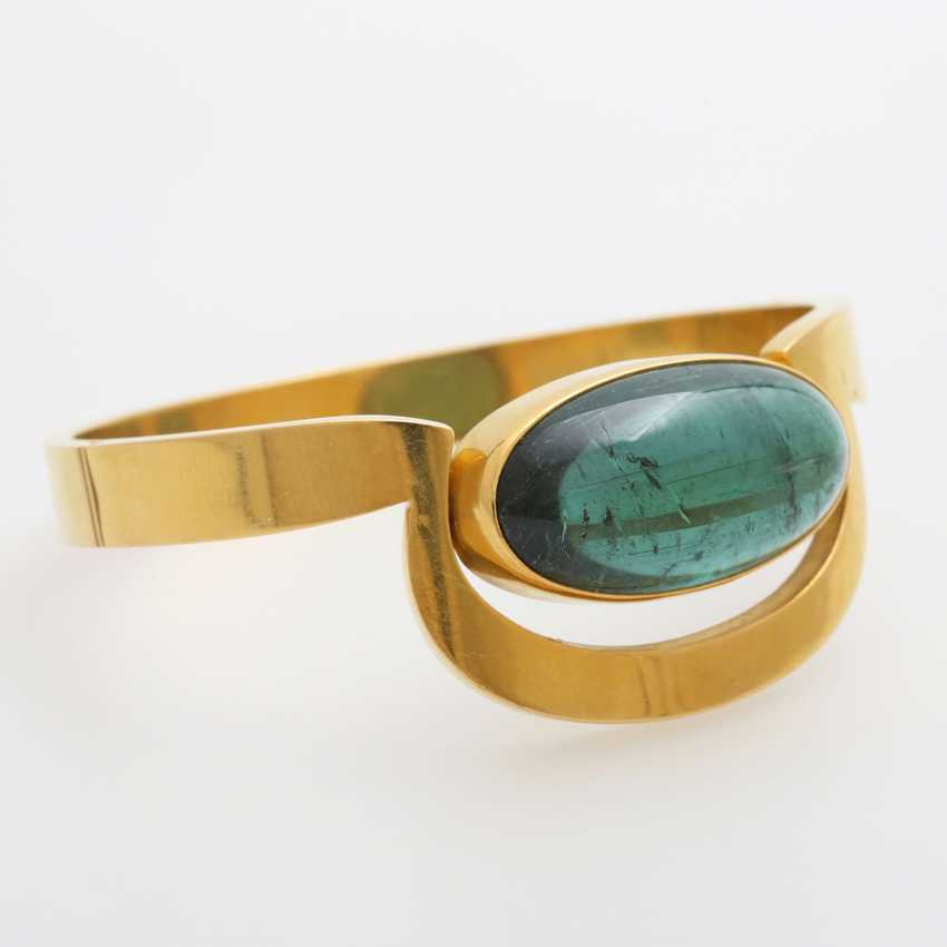 Bangle occupied with a tourmaline Cabochon - photo 1