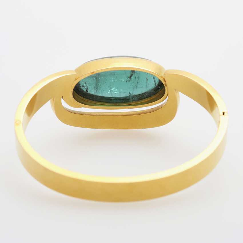 Bangle occupied with a tourmaline Cabochon - photo 3