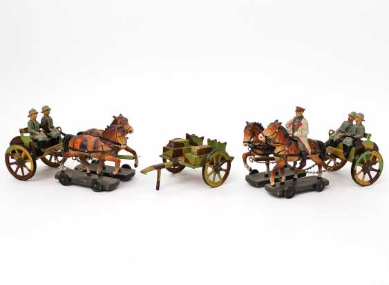 Two Horse-Drawn Carriages, German Empire, - photo 1