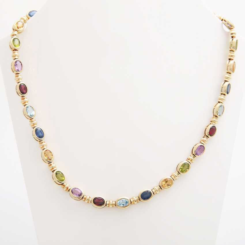 Collier bes. with div. Color stones; - photo 1