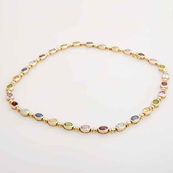 Collier bes. with div. Color stones; - photo 2