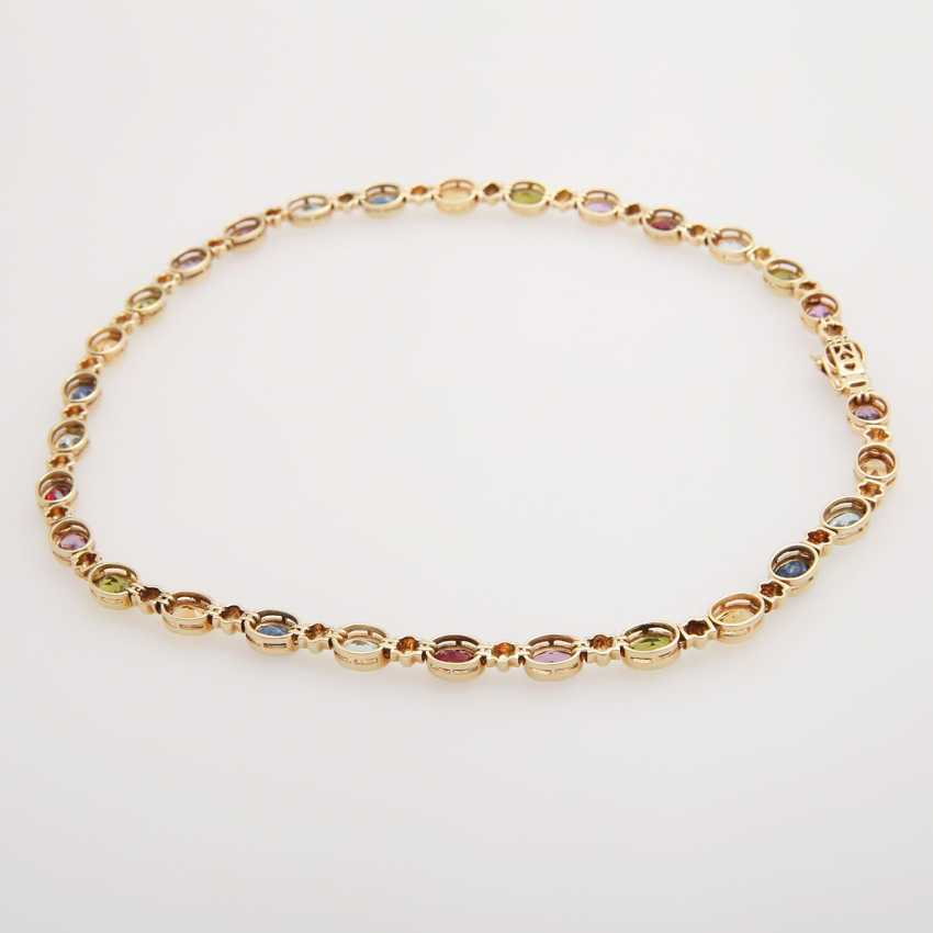 Collier bes. with div. Color stones; - photo 3